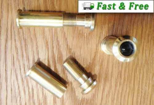 Door Spy Peep Hole Security Viewer 160° Wide Angle Solid Brass From £1.70 each