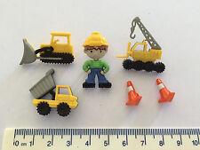 Construction equipment loader crane tip truck Novelty Buttons Dress It Up  8305