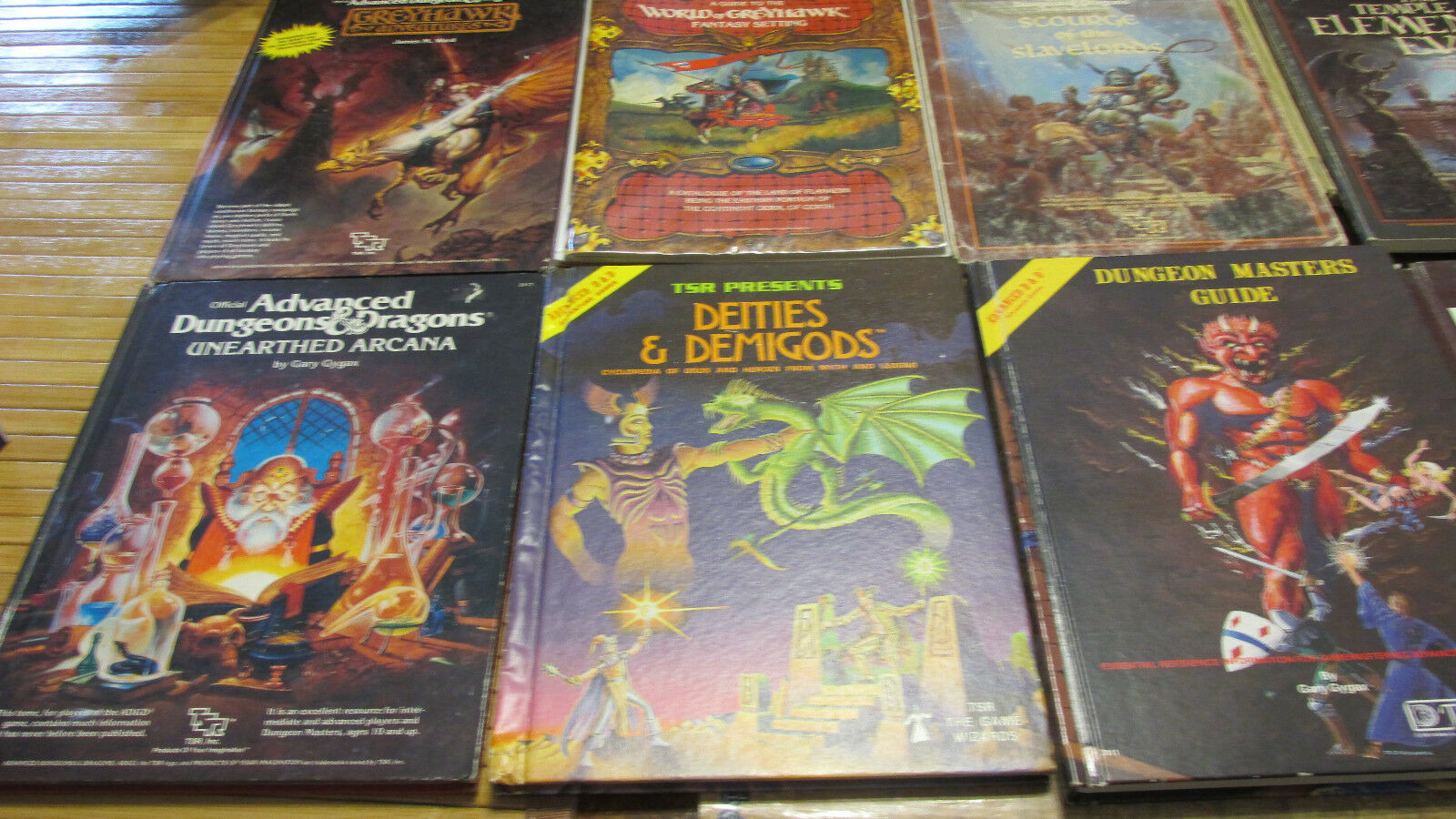 Dungeons & Dragons signed books Dungeons Master's Guide Deities Demigods Unearth