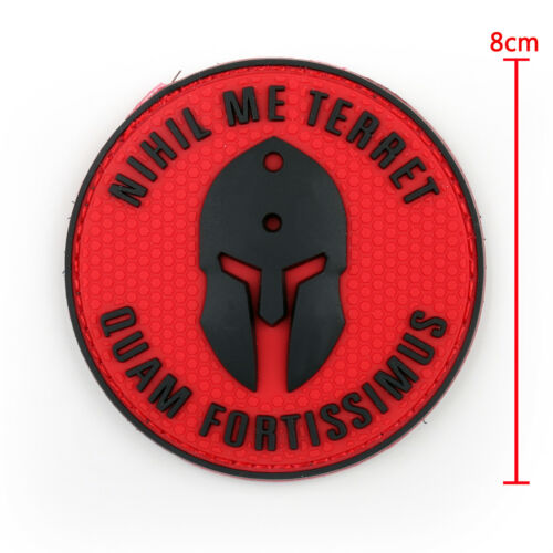 Nihil Me Terret Quam Fortissimus 3D Rubber PVC Tactical Military Hook Patch B2