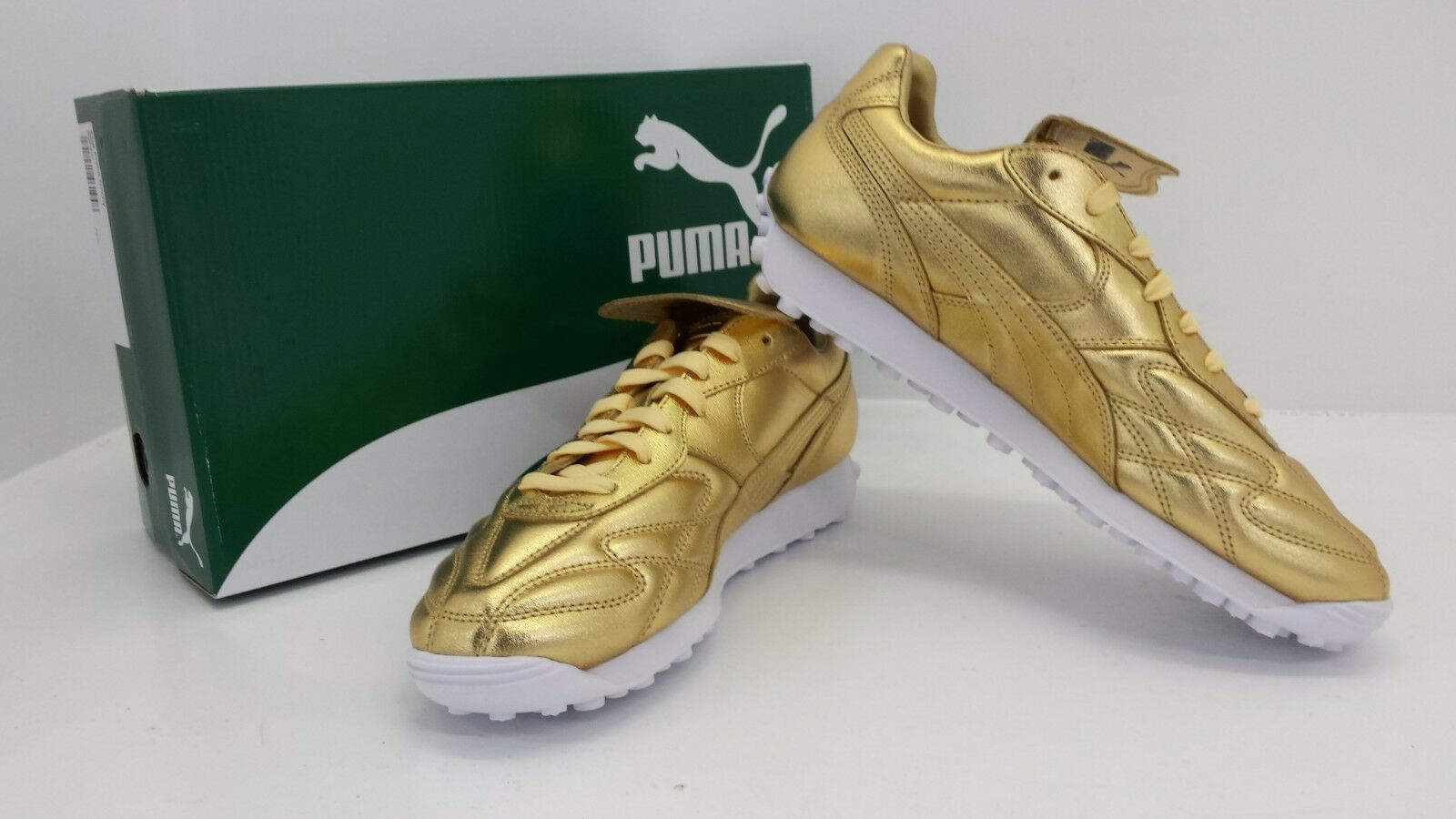 PUMA KING AVANTI TROPHY TROPHY TROPHY SNEAKERS gold 366619 01 - BRAND NEW IN BOX    6c597e