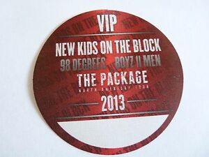 New-Kids-On-The-Block-Boys-To-Men-98-Degrees-2013-Tour-Red-VIP-Backstage-Pass