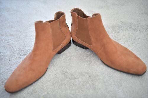 NUOVO Aldo Chelsea Premium in Pelle Marrone Cammello Brick Tan Scarpe alla Caviglia UK7