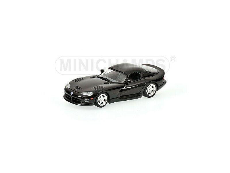 MINICHAMPS 1 43  DODGE VIPER COUPE 1993 NERA MODELLINO  haute qualité