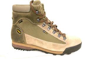 Dettagli su scarpa treking uomo donna aku 885.9 slope GTX beige suola cararmato in vibram
