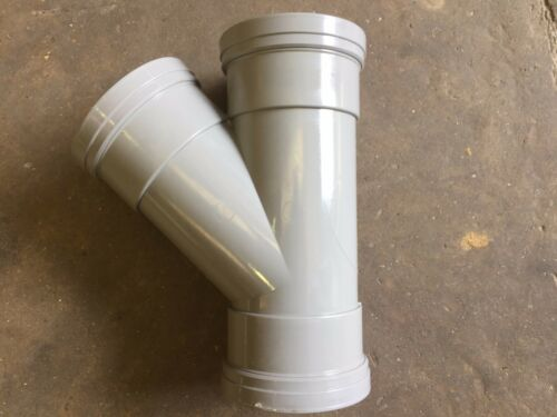 uPVC Push-Fit Soil Pipe 110mm Y Branch Grey