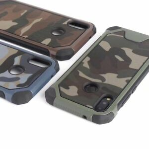 quality design 1950c fa346 Details about For Huawei P20/ Lite, Hybrid Armor Rugged Camouflage Full  Cover Hard Rubber Case