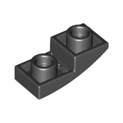 Lego 20x Genuine Black 1x2x2//3 Studded Plate Bow Inverted Arc 6147050 24201 NEW