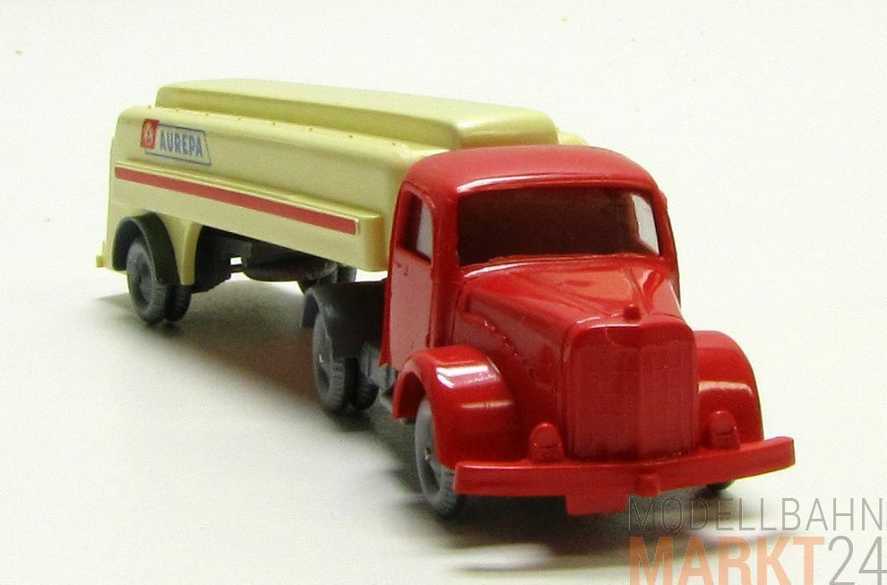 Mesureur réplique MERCEDES 5000 camion citerne aurepa Beige pièce unique piste h0 1 87