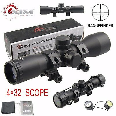 AIM SPORTS Tactical 4X32 Compact .223 .308 Scope /w Rings