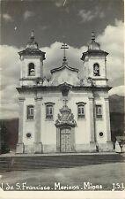 c1940 RPPC Postcard Iglesia de S. Francisco, Mariana Minas Gerais, Brazil J.S.L.