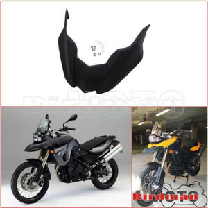 Motorcycle-Black-Front-Fender-Beak-Extension-Wheel-Cover-For-BMW-F800GS-F650GS
