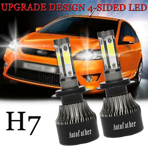 Details About 2x Led H7 Car Headlight 440w Upgrade Hi Low Beam Bulbs Kit 6000k For Ford Focus