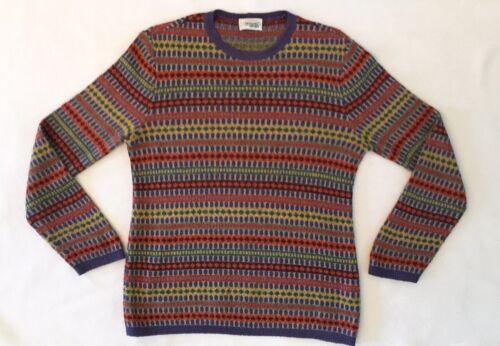 Missoni Italy Sweater Pullover Multicolor Stripes