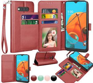 Pour-LG-K51-LG-Reflect-LG-Q51-Flip-Etui-portefeuille-en-cuir-porte-carte-Support-Housse