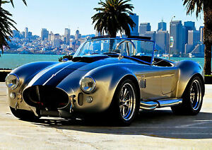 Image Is Loading Framed Print AC Cobra KIT CAR Vintage Picture