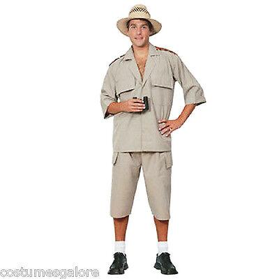 SW Mens Costume Fancy Dress Safari Desert Jungle Hunter Explorer Adventurer Suit