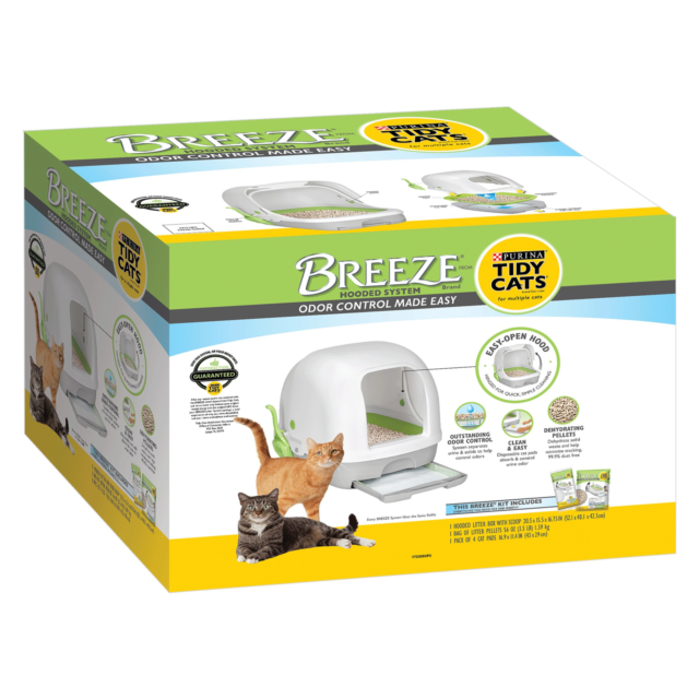 Tidy Cats BREEZE Hooded Litter System - New- Free Ship !