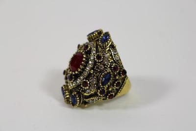 Prunk Fingerring Damenring Ring Schmuckmetall Perlen Steinbesatz Barock Stil