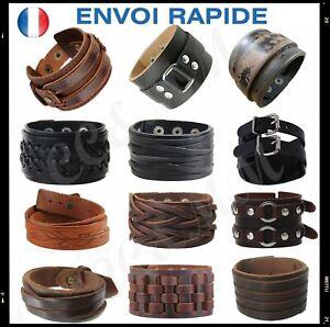 manchette bracelet cuir