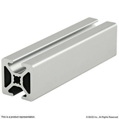 """80//20 Inc 10 Series 1"""" x 1"""" Quarter Round Aluminum Extrusion #1012 x 36/"""" Long N"""