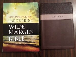 Imperfect kjv large print wide margin bible 6995 for Kjv wide margin red letter