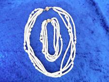 Edles Schmuckset__Perlen, vierreihig__mit 585 Gold___Kette und Armband_!