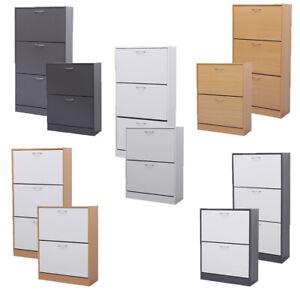 AVC-Designs-2-3-Drawer-Shoe-Footwear-Cabinet-Bedroom-Storage-inc-Warranty