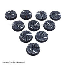 32mm Round Urban Rubble Resin Bases - Warhammer 40K 40000 City Road Concrete