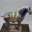 20-8cm-Chinese-Ceramics-Tri-Color-Glazed-Pottery-Tang-Dynasty-War-horse-Statue thumbnail 4
