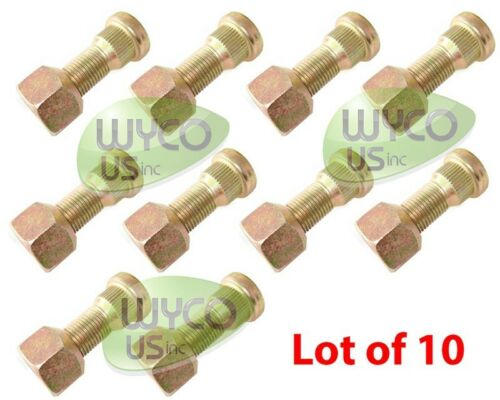 """APROX 1-1//8/"""" THREADED PART WHEEL STUDS WITH NUTS QTY.10 1//2/""""-20 LOT OF 10"""