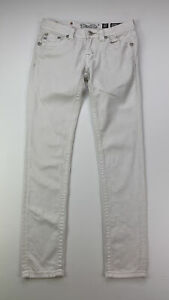 Miss-Me-Women-039-s-Size-28x32-White-Embellished-Low-Rise-Skinny-Jeans-AS-IS