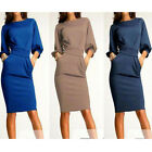 Elegant Women Office Formal Business Work Party Sheath Tunic Pencil Dress TB