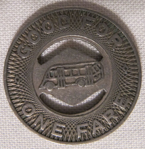 Beaumont Texas City Lines Collectible 1940s Bus Transit Token 15//16 whotoldya