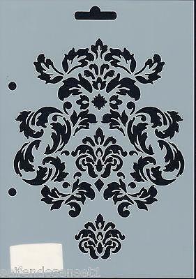 DIN A5 Barock Ornament Schnörkel Schablone DIY shabby chic Vintage French 421