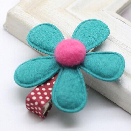 1//5//10X Baby Hair Clips Cute Flower Headwear Kids Girl Candy Color BB Hairpins*v