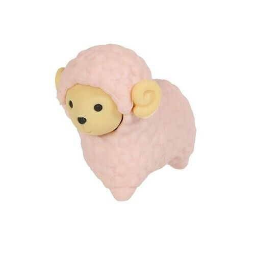 Sheep and Alpaca Iwako Puzzle Eraser Sheep Pink