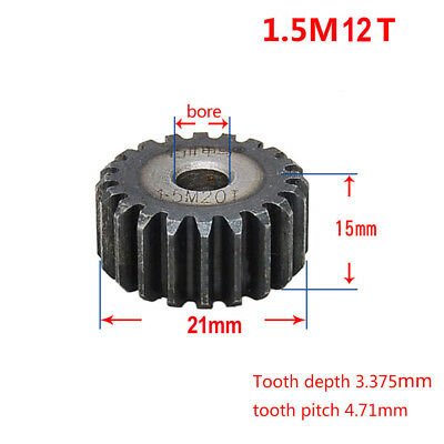 1.5Mod 30T 45# Steel Motor Spur Gear Outer Diameter 48mm Thickness 15mm #Mx69 QL