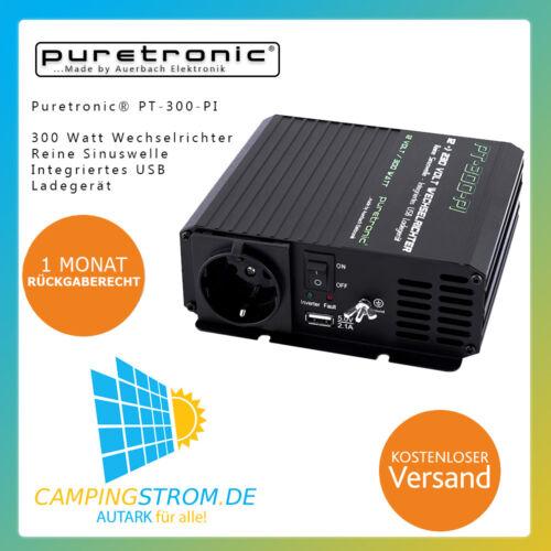 Puretronic ® pt-300-pi 300 W PUR SINUS Onduleur/Inverter avec USB