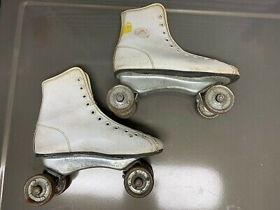 Vintage Roller Skates Official Roller Derby Steel Wheel Retro Decor Skate Size 2 Ebay