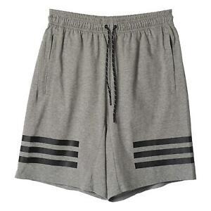 Adidas-HOMBRE-Lineal-3-Rayas-Pantalones-Cortos-Gris-Comodo-Gimnasio-Playa-Nuevo