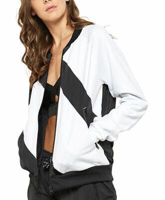 Adidas Women Ladies Mesh Socker Track Top Chiffon Jacket Trefoil Logo Top