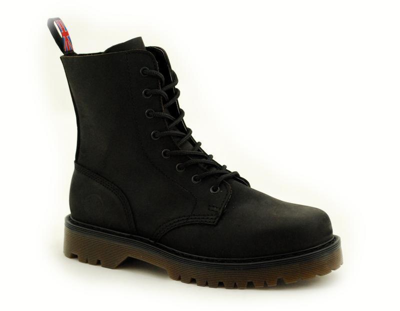 Nevermind 8 Loch Boots Bombay Black Crazy 43-110080-8 !Kein Fernost Import!