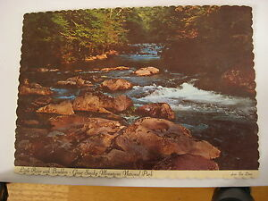1972-Vintage-Great-Smoky-Mountains-National-Park-Little-River-Unused-Post-Card