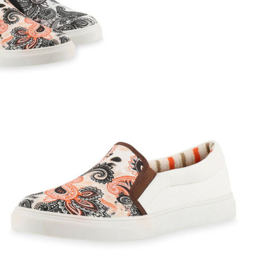 Herren Sneakers Slip-ons Prints Sportliche Slipper Freizeit Schuhe 816608 Top