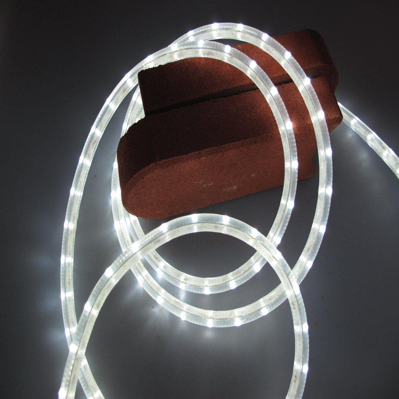 LED Lichtschlauch 24 V ca. 5 Meter weiss incl. Anschlusskabel 36 LED M Grünkal    Einzigartig