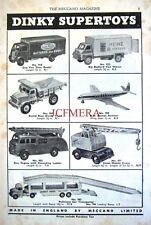 1956 Dinky Toys ADVERT Guy Van, Big Bedford 'Heinz' Van etc. - Vintage Print AD