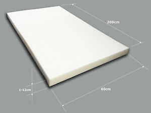 Schaumstoff-Schaumstoffplatte-Schaumstoffpolster-Matratze-Matte-Schaum-60x200cm
