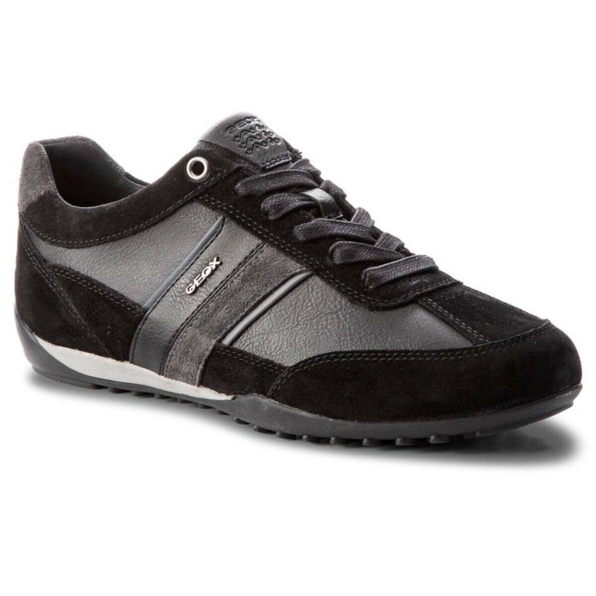 Geox Respira Men's u Wells C Low Top Trainers Lace up Shoes U52T5C Black