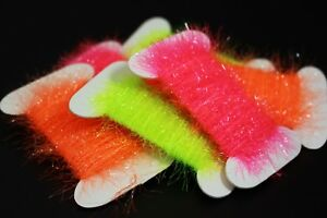 6-Cards-60m-UV-Color-Fly-Fishing-Tinsel-Chenille-Crystal-Flash-Tying-Materials